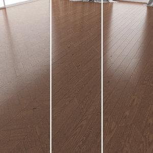 parquet oak walnut brushed 3D model