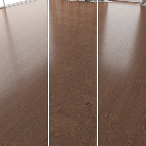 parquet oak walnut brushed 3D model