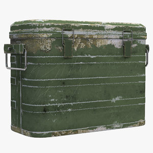 3D model military cooler vintage version