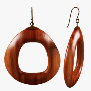 3D earrings model
