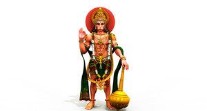 3D hanuman model