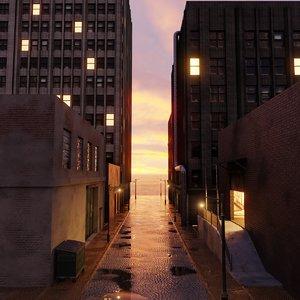 3D industrial city block