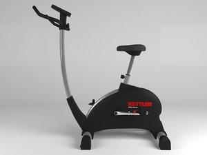 exercise bike 3D