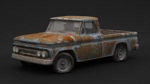 rusty pickup old 3D model