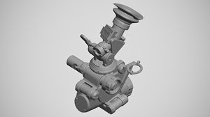 mpm-44 mortar sight scanned 3D model