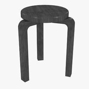 3D minimalist black mahogany artek