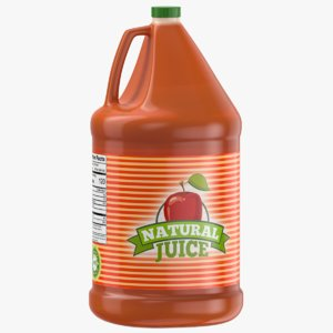 3D apple juice gallon jug
