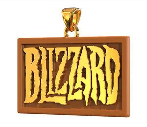 3D model blizzard logo pendant
