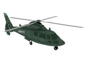 eurocopter dauphin 3D model