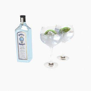 drink bombay sapphire gin 3D