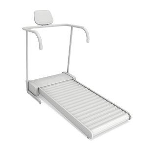 treadmill machine gym fitness equipment 3D model