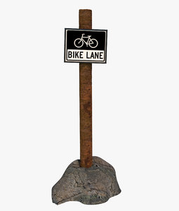 3D sign lane signal
