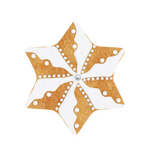 3D cookie star