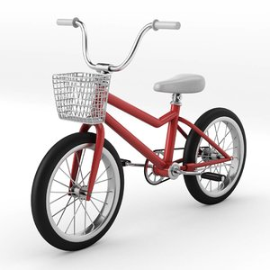 3D girls kids bike model