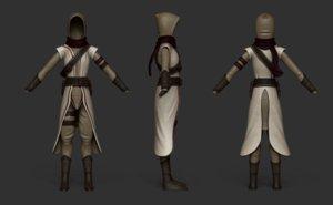 3D model costume characters assassin ninja