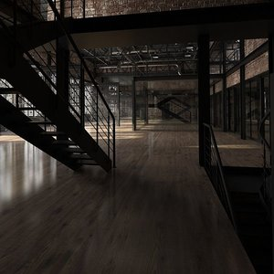 3D model loft interior