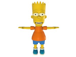 character simpson rigged 3D model