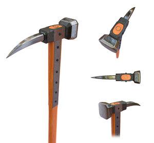 3D model medieval warpick pick