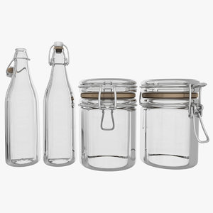 glass bottle container 3D model