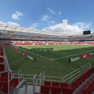 football soccer arena model