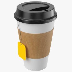 real paper tea cup model