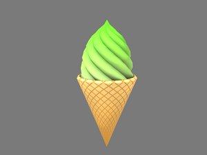 green ice cream model