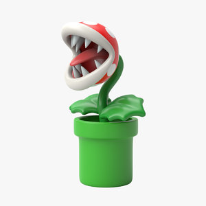 3D piranha plant model