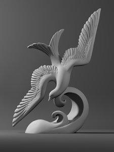 3D sculpture dove
