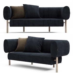 3D nook sofa model