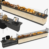 Bakery Display Stand and Payment Counter