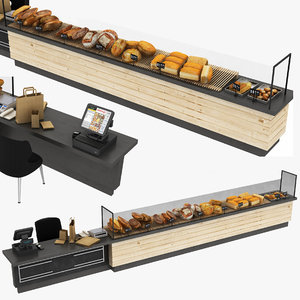 bakery display stand payment 3D