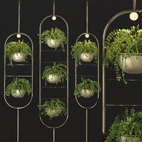 Metal hanging lamp Indoor Plant partition divider