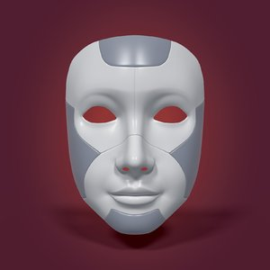 3D model robot mask