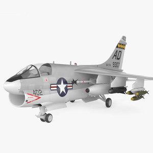 3D ltv a-7 corsair model