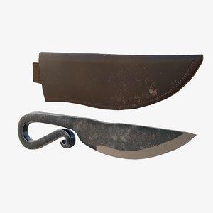 viking knife 3D model