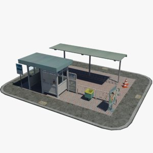 japanese bus stop 3D model
