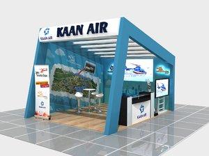 3D modern fair stand