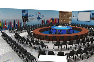 3D nato stage decor