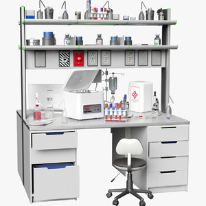 3D laboratory table big 3