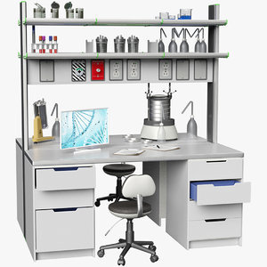 3D laboratory table big 2 model