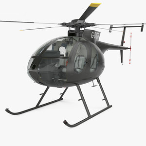3D model 500 md helicopter