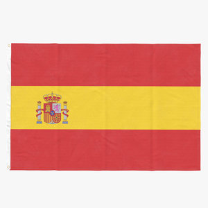 3D flag laying pose spain