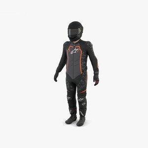 motorcycle rider motor 3D model