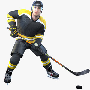 rigged pbr hockey player model