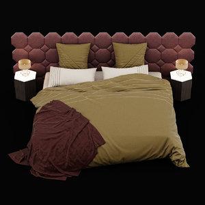 bed modern 3D