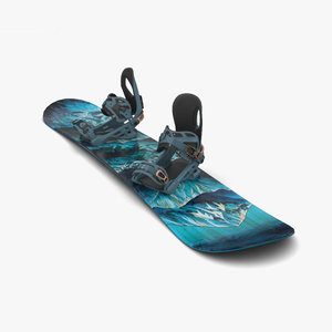 snowboard snow 3D model