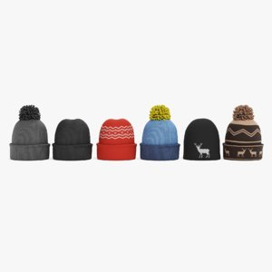 3D winter hats