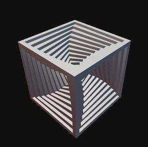 inner spiral vortex cube model
