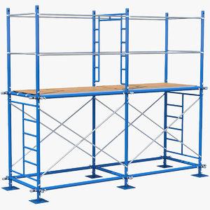 3D scaffoldings modular industry model