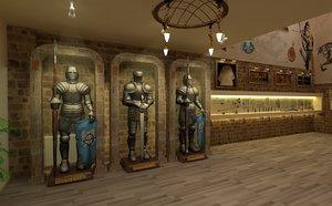 3D historical museum model